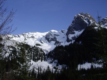 The top of the ridge